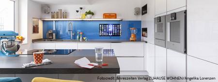 SMART VISION Fernsehen/TV und Internet in Küchenrückwand aus Glas